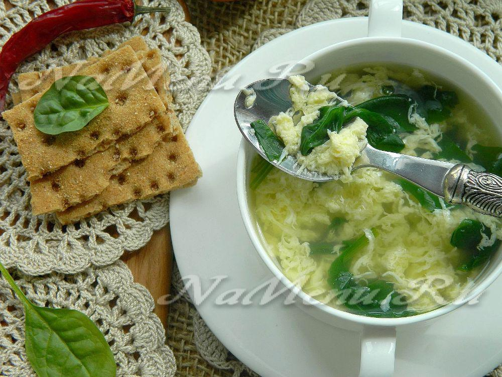 Яичный суп пошагово
