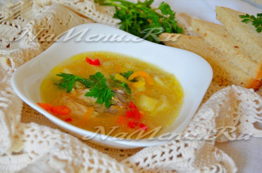 Куриный суп в мультиварке скороварке