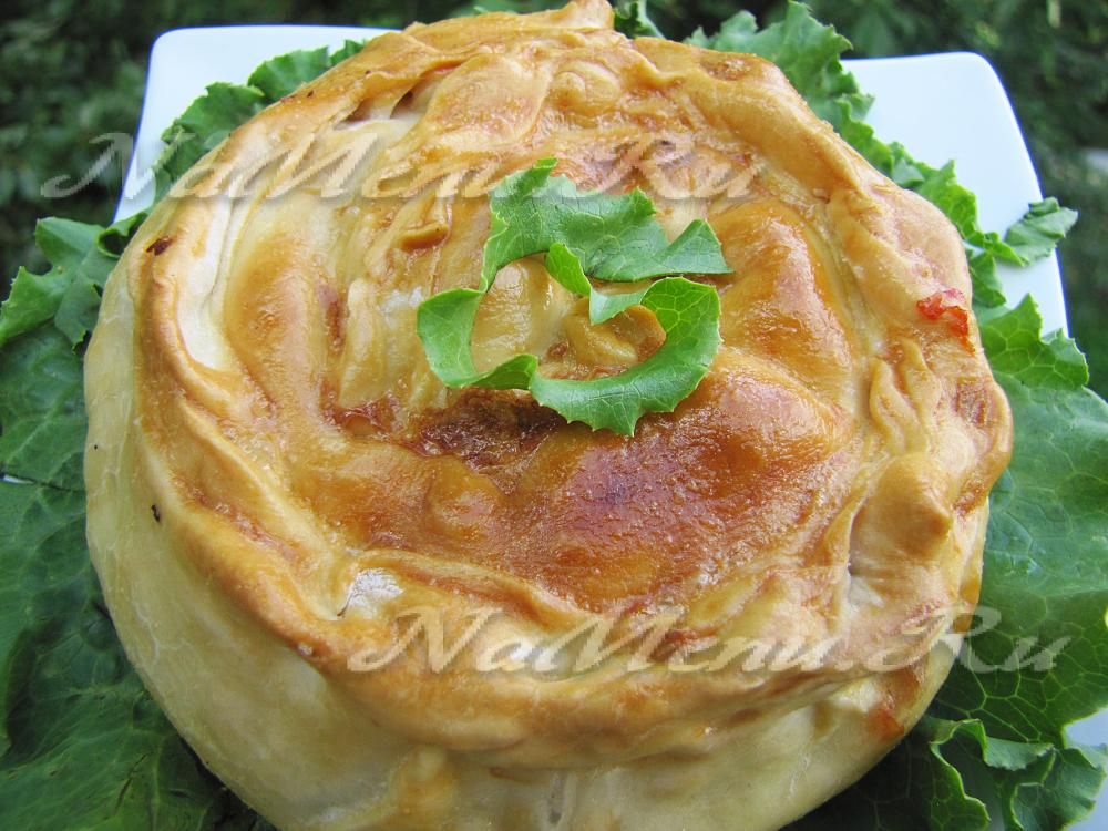 рецепты пирога из творога и яблоками