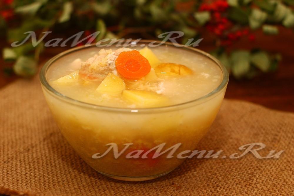 куриный суп с пшеном рецепт