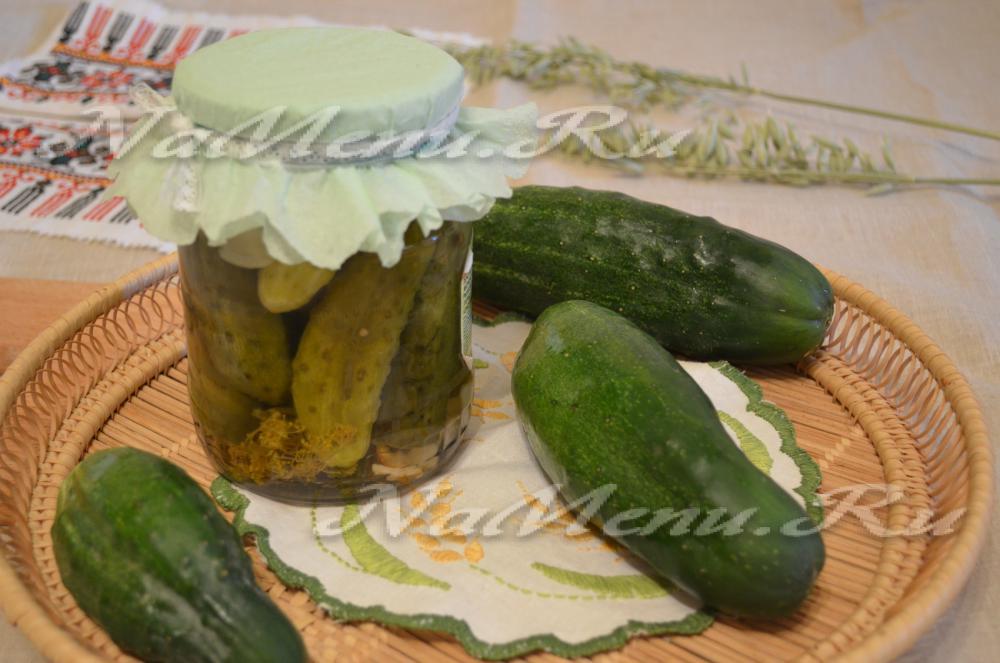 Маринованные огурцы сладкие - пошаговый рецепт с фото на ...