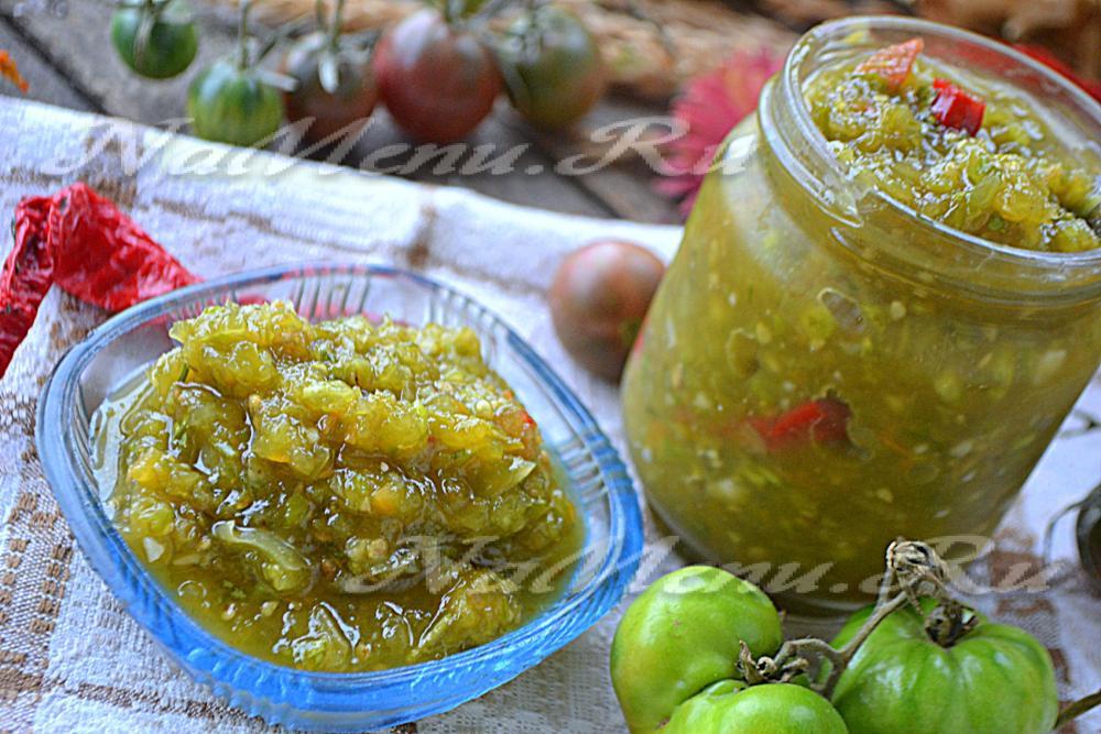 Аджика из зеленых помидоров на зиму рецепты фото