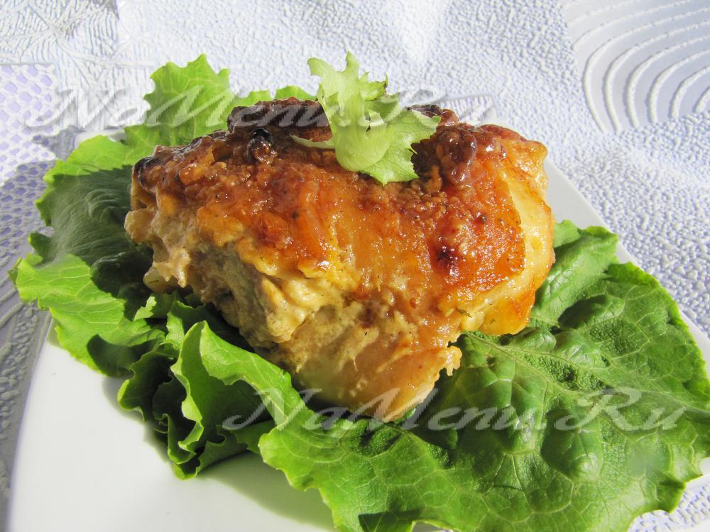 рецепт куриные бедрышки с сыром в духовке рецепт