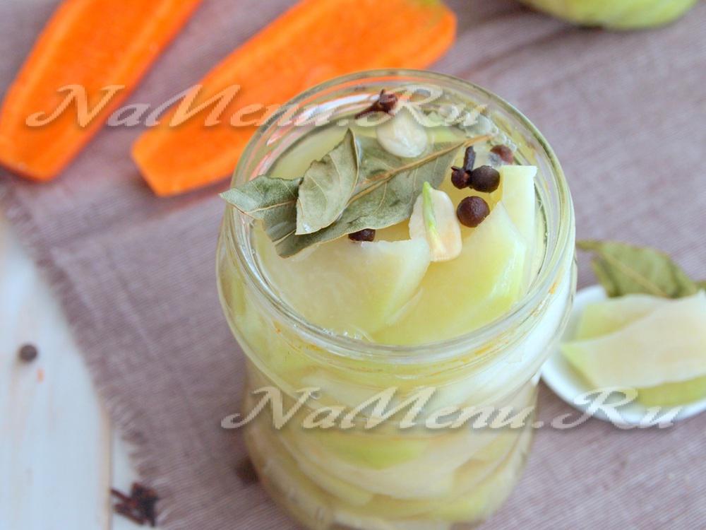 Салат из кольраби рецепты с на зиму 3