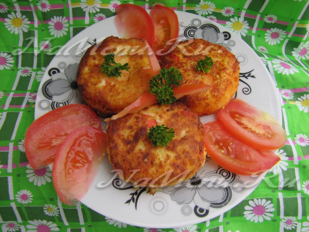 Котлеты из крабовых палочек с сыром видео рецепт