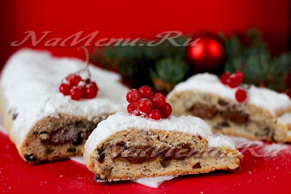 Штоллен творожный рождественский кекс пошаговый рецепт
