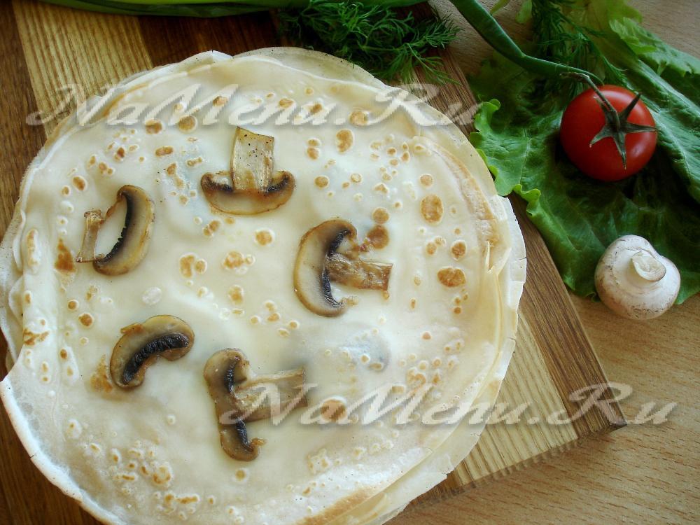 Блины с грибным припеком рецепты