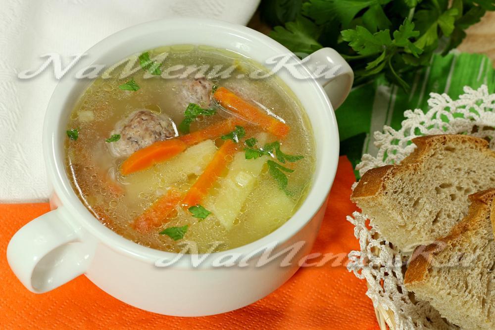 суп с рисом и фрикадельками пошаговый рецепт с фото