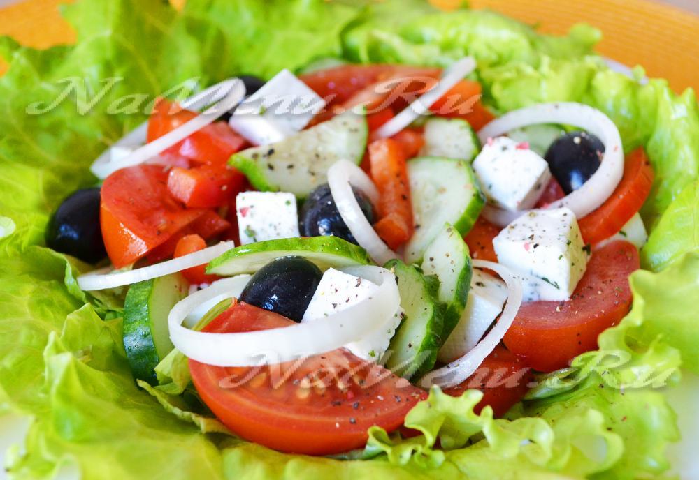 салат греческий рецепт классический с брынзой рецепт с фото