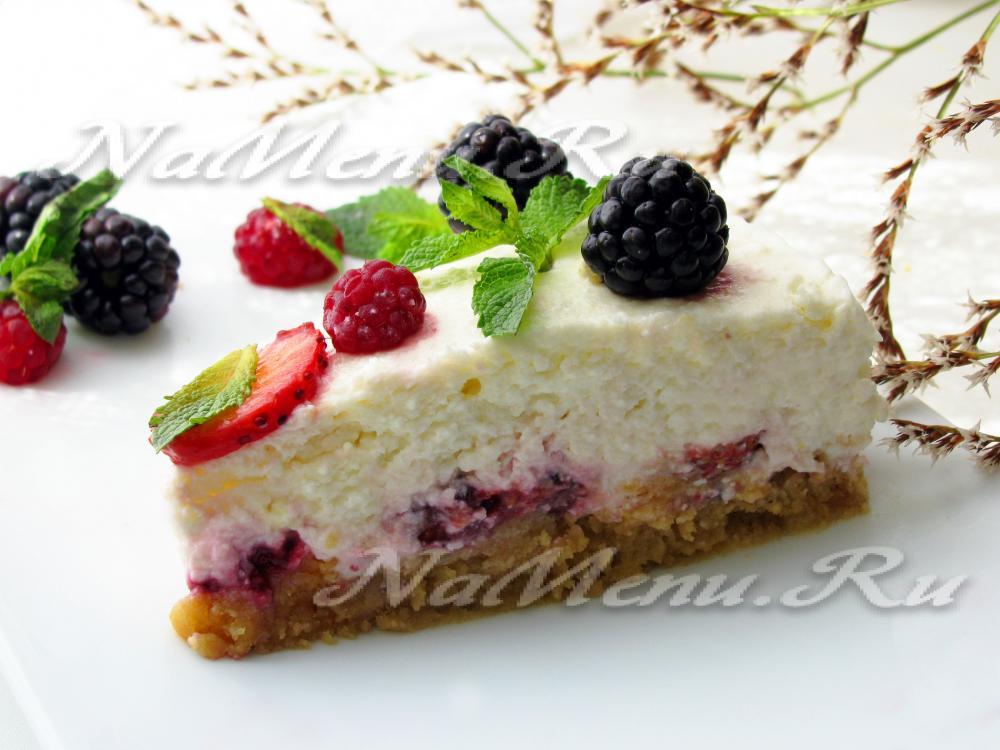 Торт без выпечки рецепт из печенья и творога на смачно 125