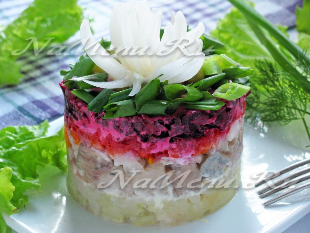 Салат селедка под шубой классический рецепт