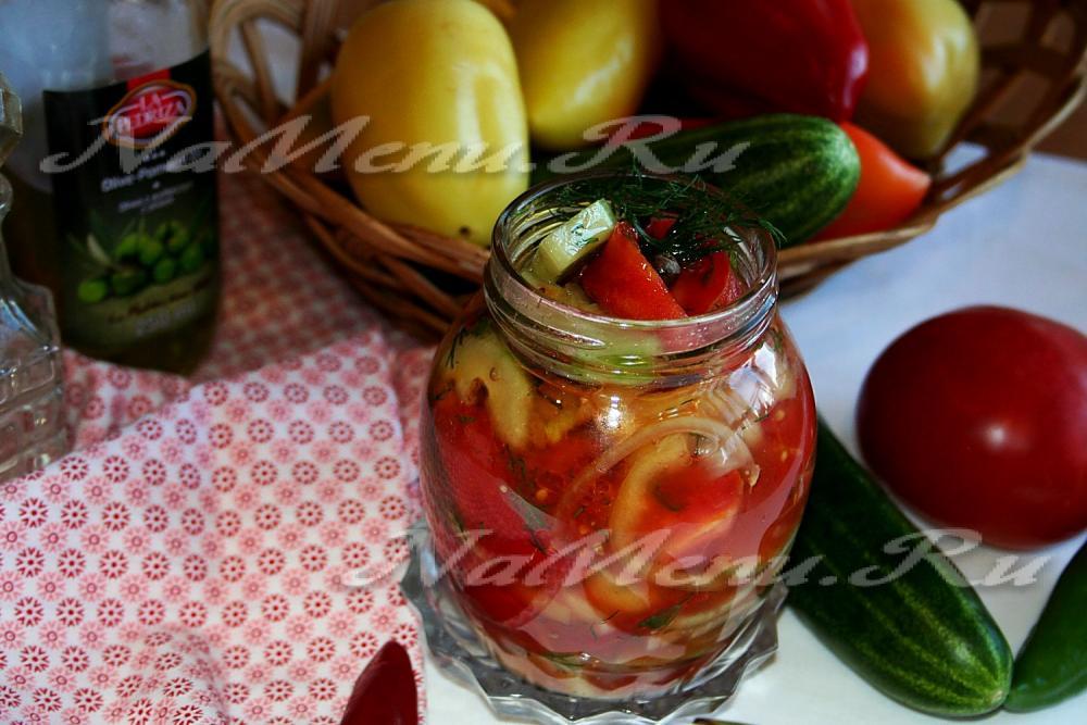 Салаты на зиму из помидоров и перца рецепт