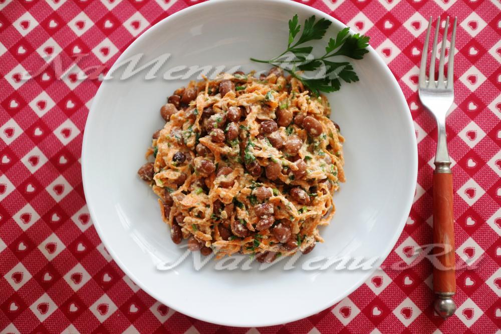 Салат с красной фасоли рецепт очень вкусный 15