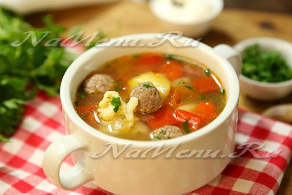 рецепт клецок для супа с фрикадельками