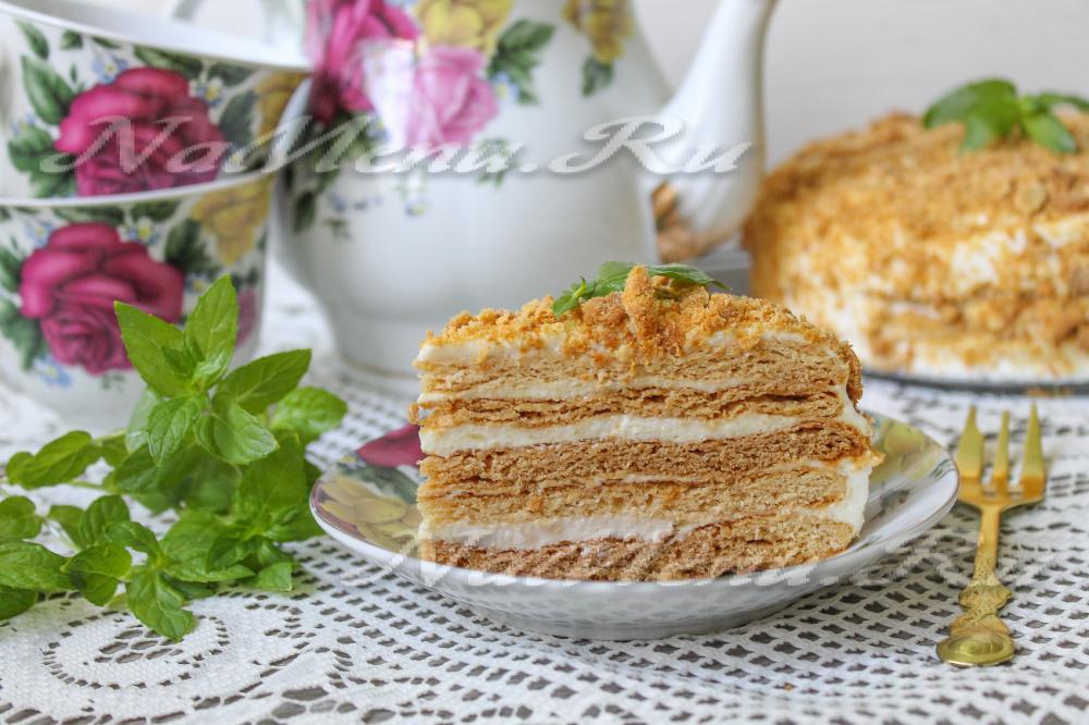 Медовик классический рецепт со сметаной фото и рецепт с фото пошагово