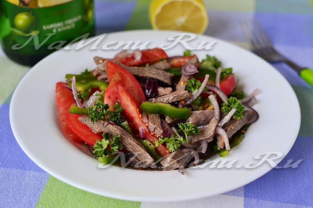Салаты с мясом и болгарским перцем рецепты с