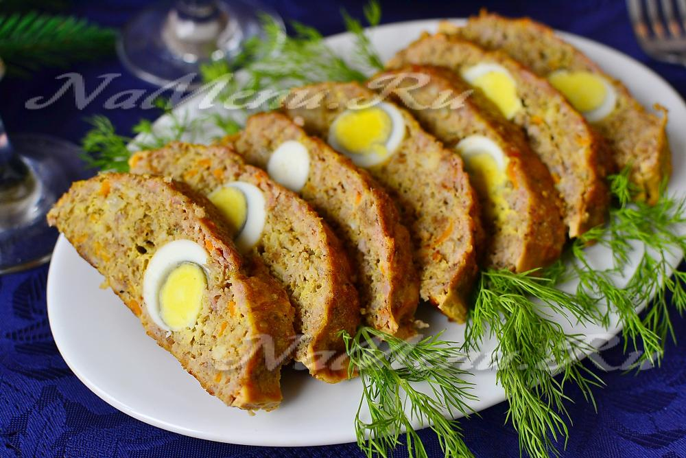 котлета с яйцом в духовке рецепт с фото
