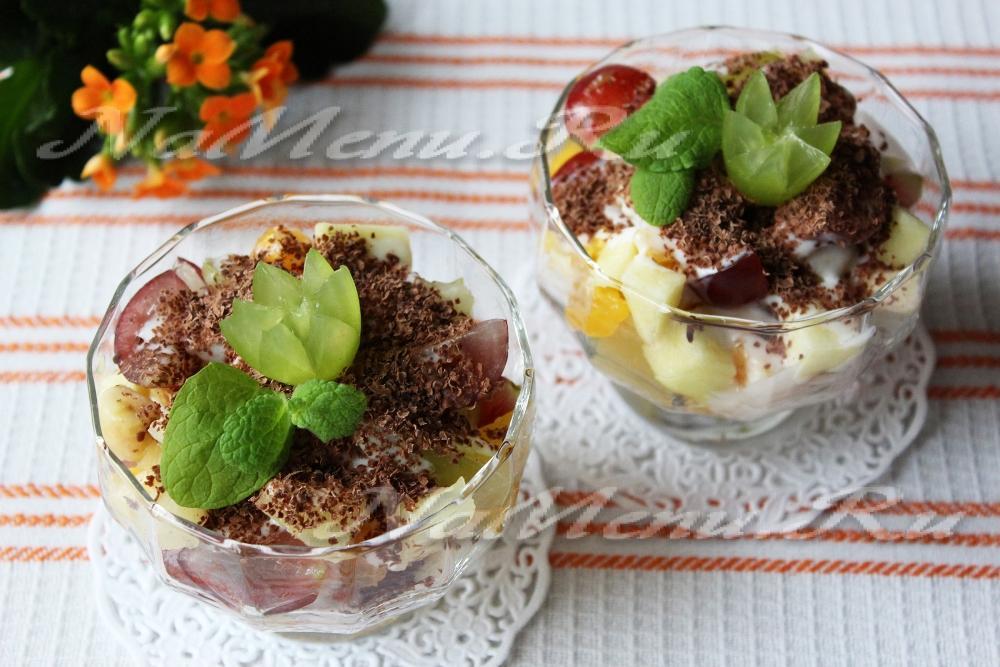 рецепты салатов фруктовых с фото