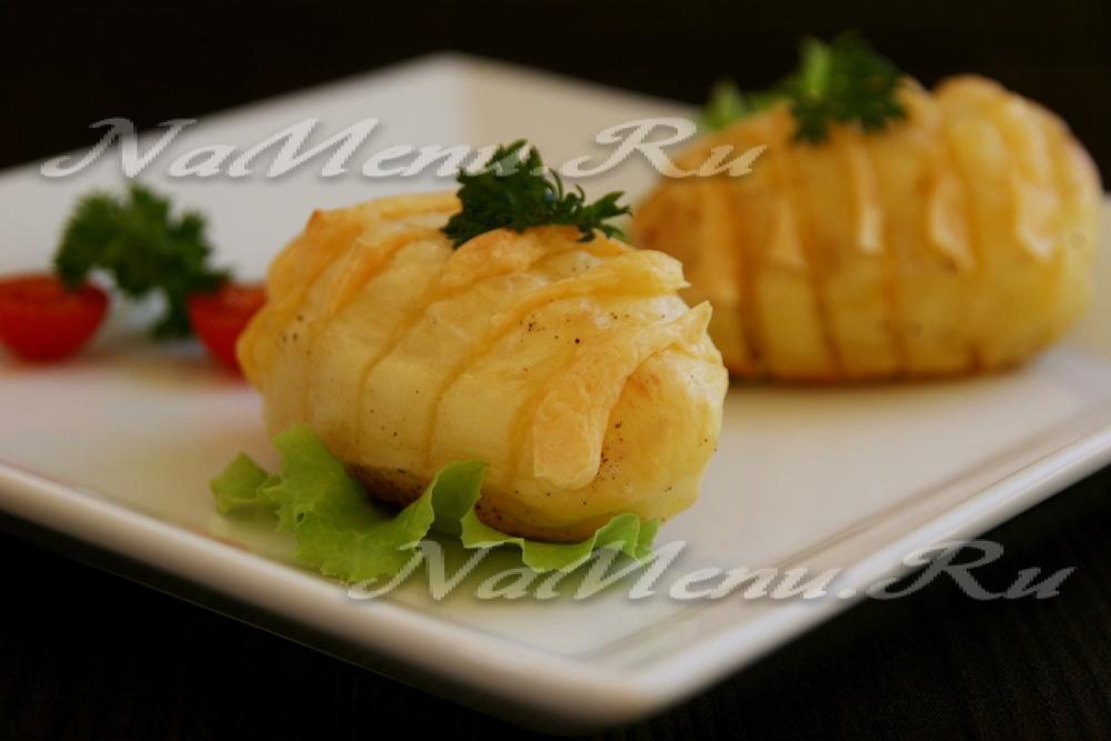 Картофель гармошка с сыром в духовке рецепт 124