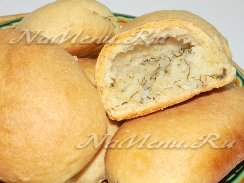 Пирожки с картофелем в духовке пошаговый рецепт
