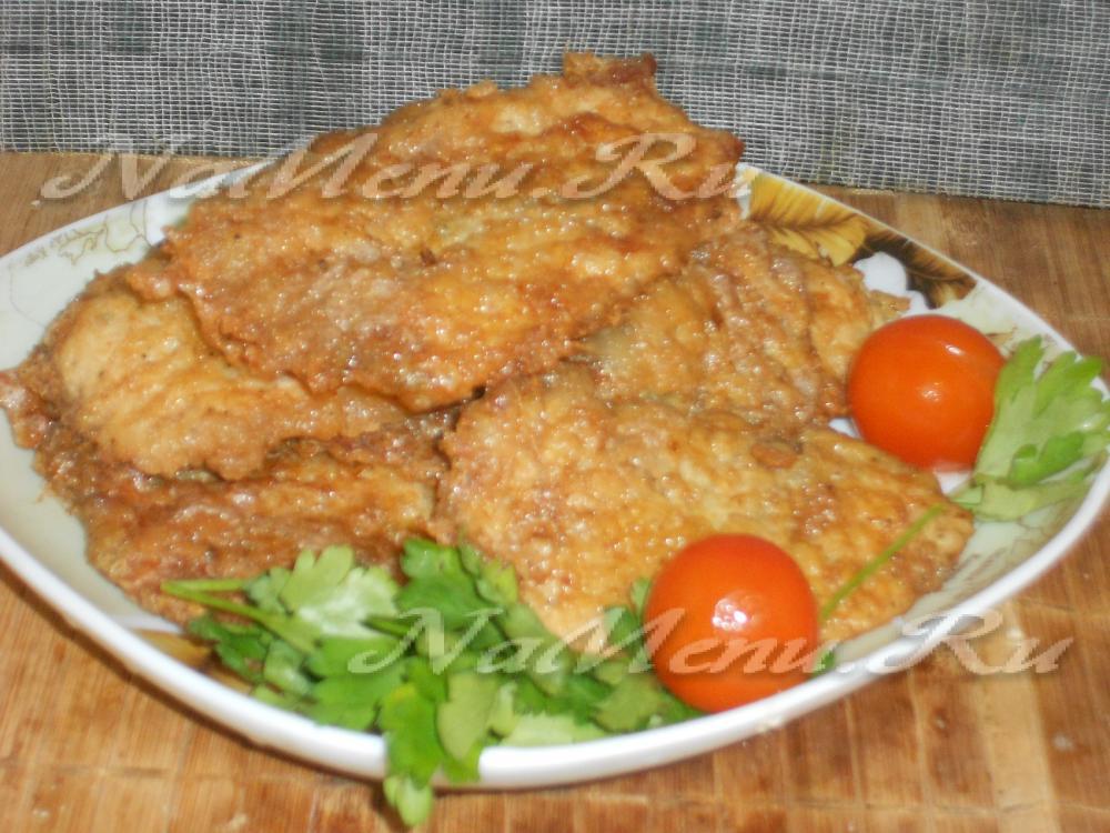 Отбивные из свинины с начинкой на сковороде рецепт