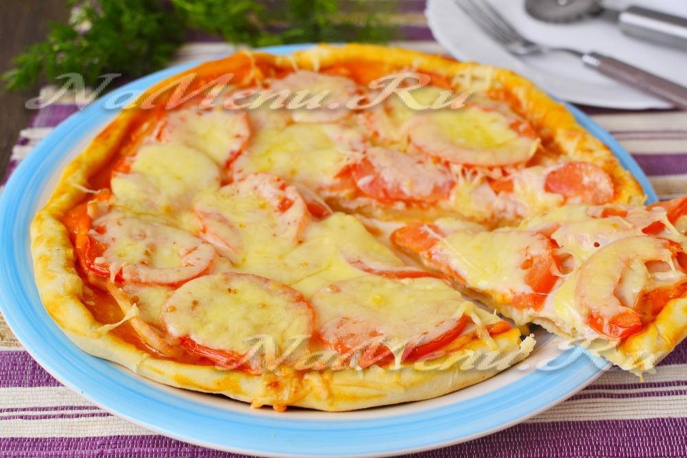 Быстрая пицца в духовке рецепт пошагово с фото на молоке