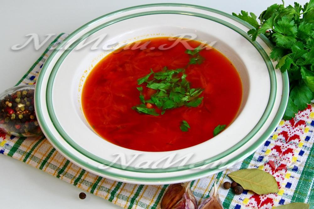 борщ с квашеной капустой пошаговый рецепт