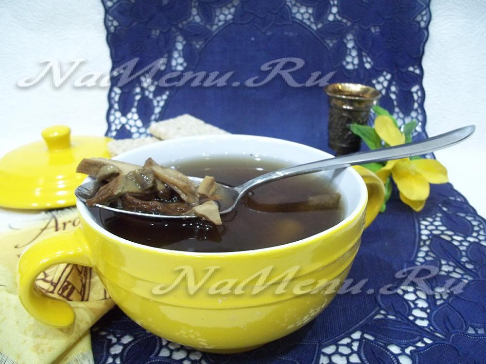 постный суп из белых сушеных грибов рецепт с фото