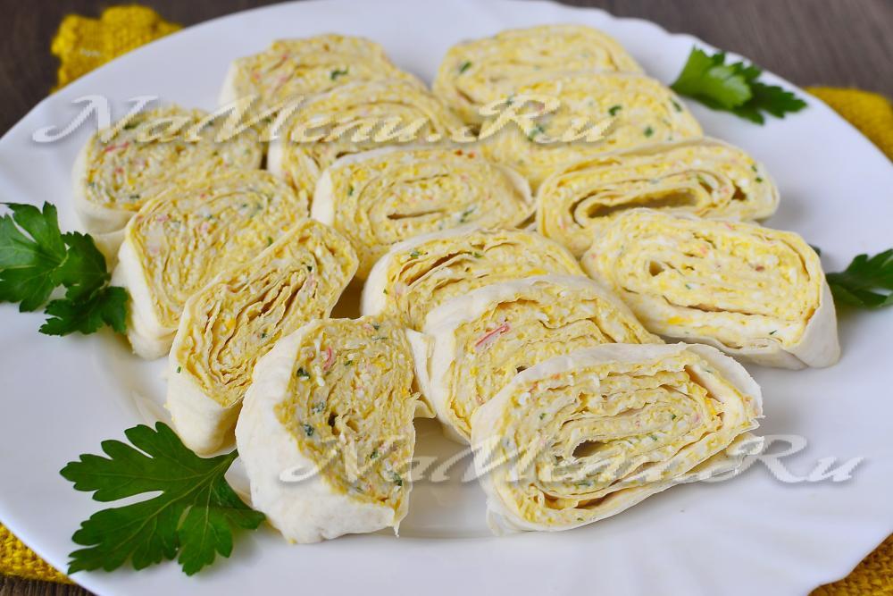 рецепт лаваш с крабовыми палочками и сыром и яйцом пошаговый рецепт с фото