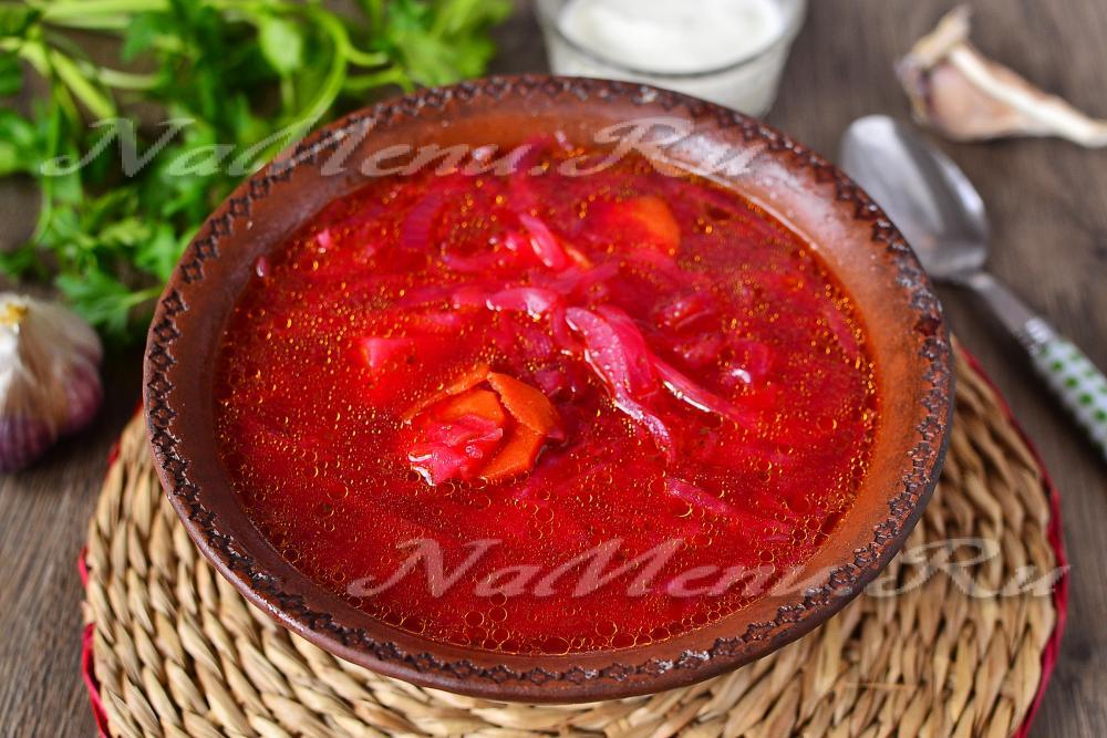 Домашний красный борщ рецепт пошагово