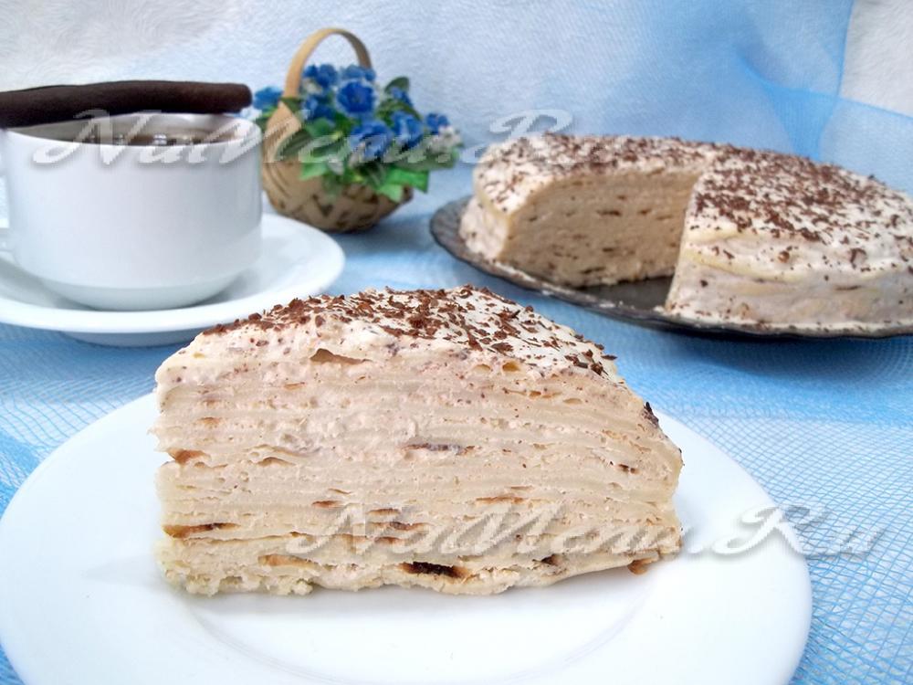 Блинный торт 16 рецептов с фото пошагово. Как
