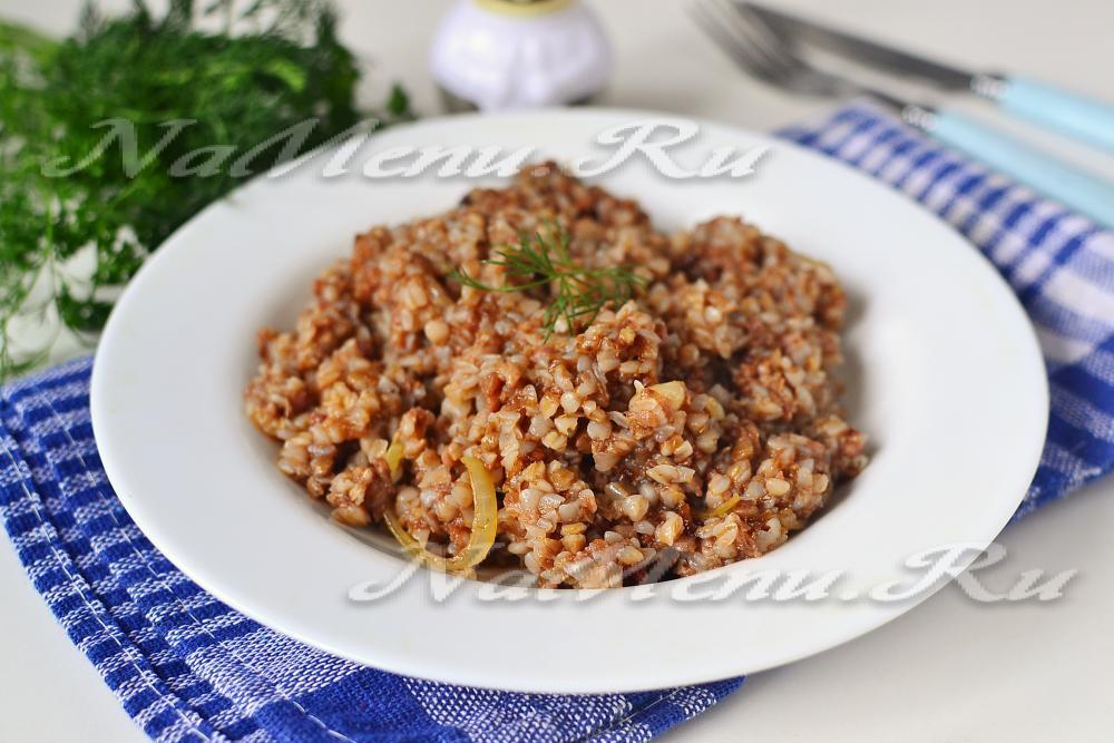 Гречка с тушенкой и овощами рецепт
