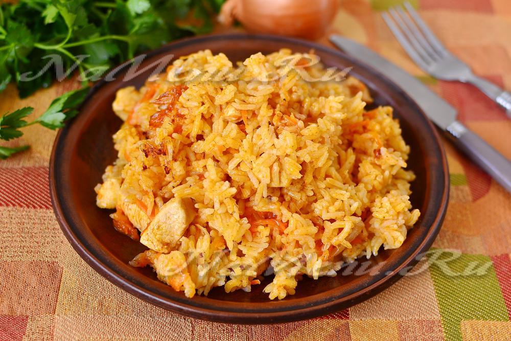 плов из курицы рассыпчатый рецепт с фото пошагово