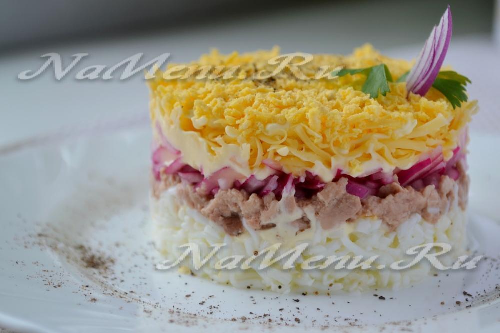 Салат из трески с фото очень вкусный