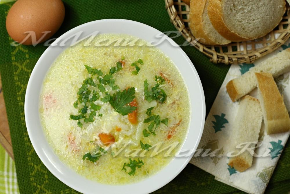 87Диетический суп из курицы с рисом
