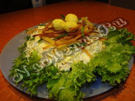 пошаговый фото рецепт салата гнездо глухаря