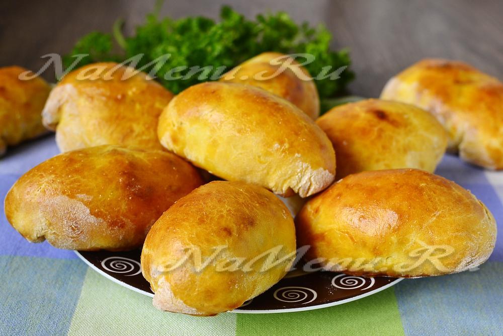 Пирожки на кефире в духовке рецепт видео