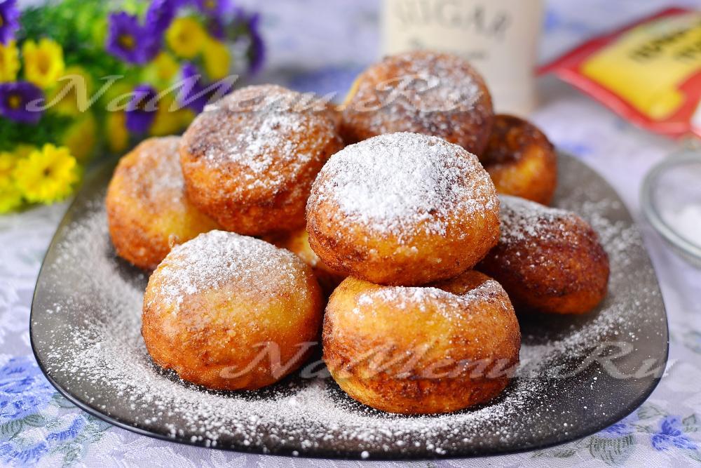 творожные пончики пошаговый рецепт