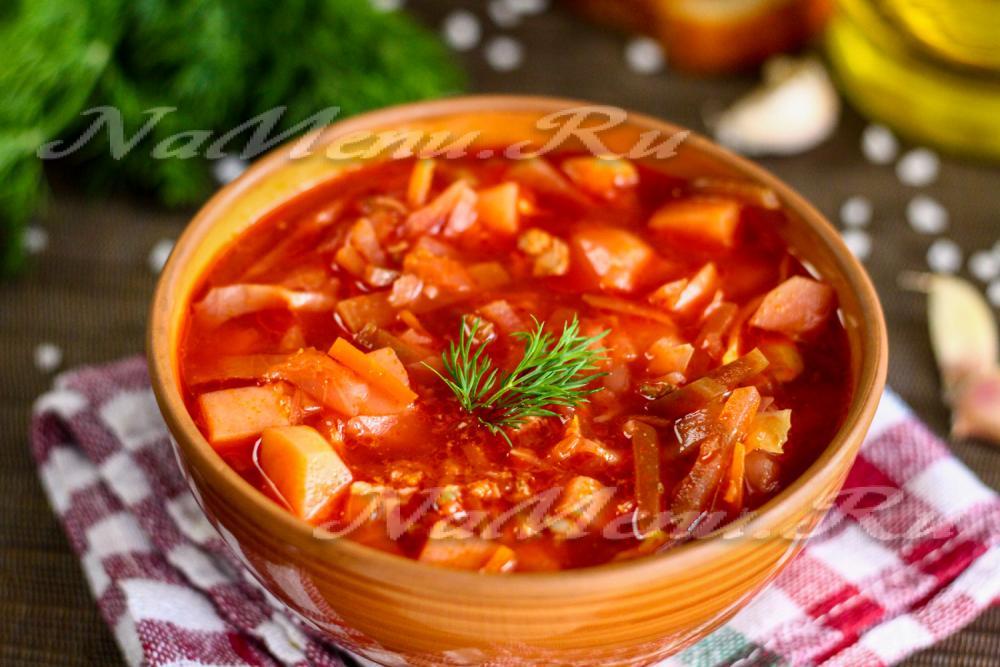 Борщ с мясом пошаговый рецепт с