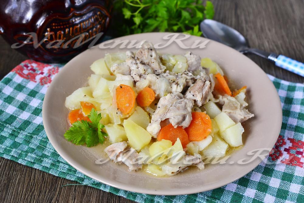Картошка в горшочке в духовке рецепт с мясом