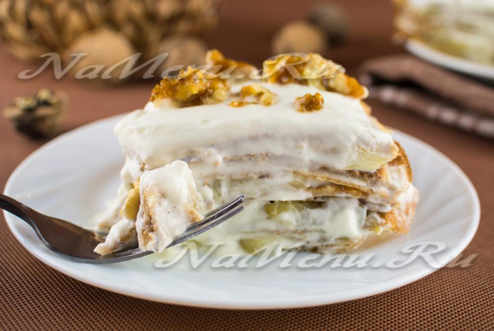 Блинный торт крем из сметаны рецепты