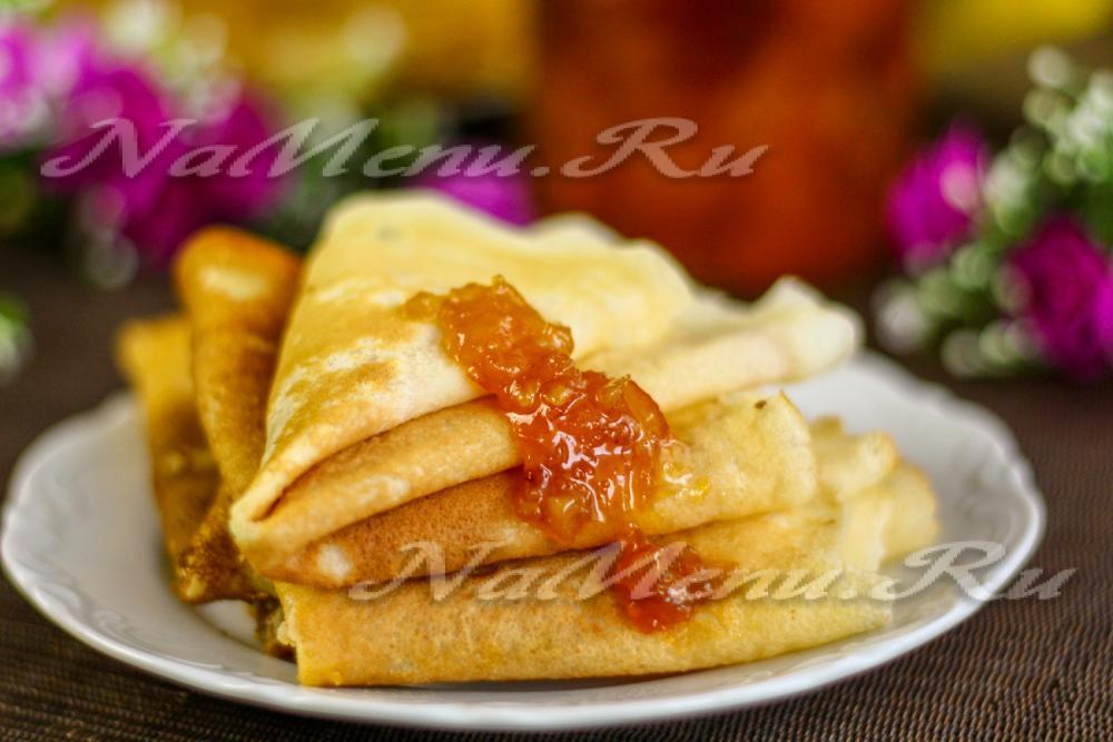Рецепт вкусных тонких блинов с пошаговым фото