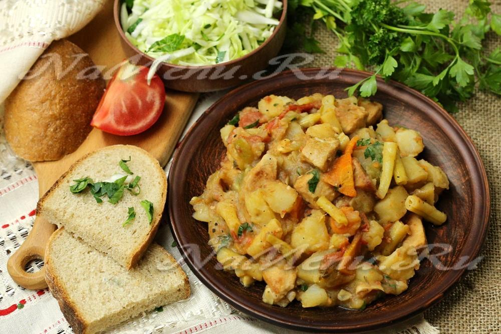 Овощное рагу с мясом вкусный рецепт