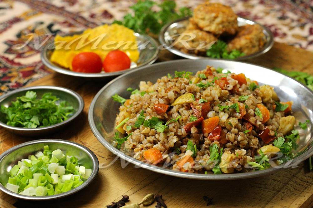 гречка с овощами рецепт с фото пошагово