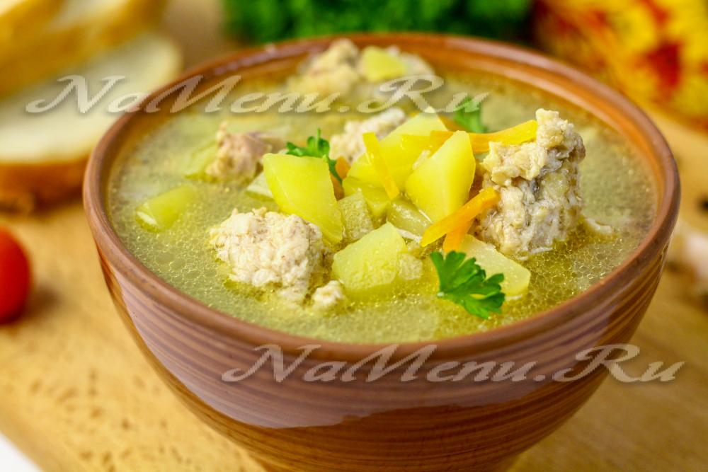 суп из шпината с фрикадельками в мультиварке.рецепт
