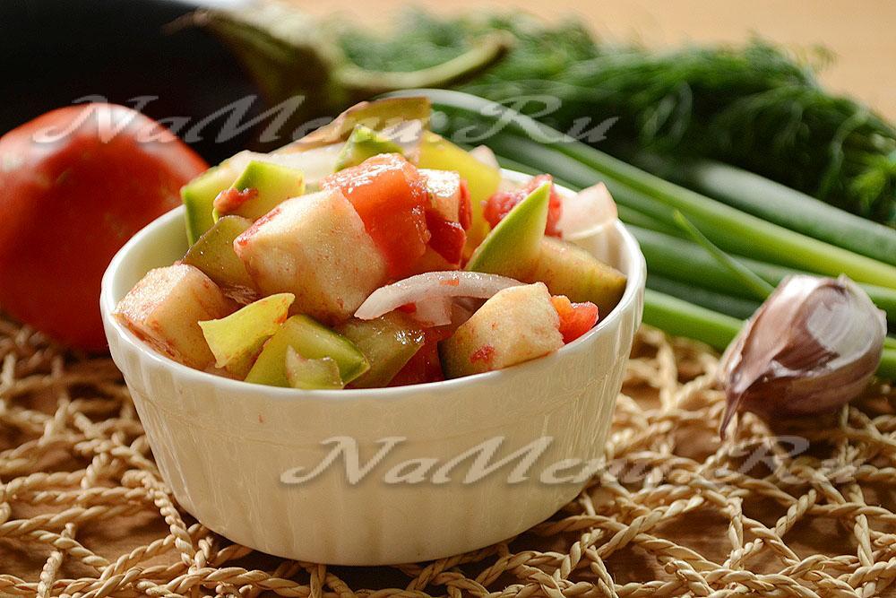 Рагу овощное из баклажан в мультиварке