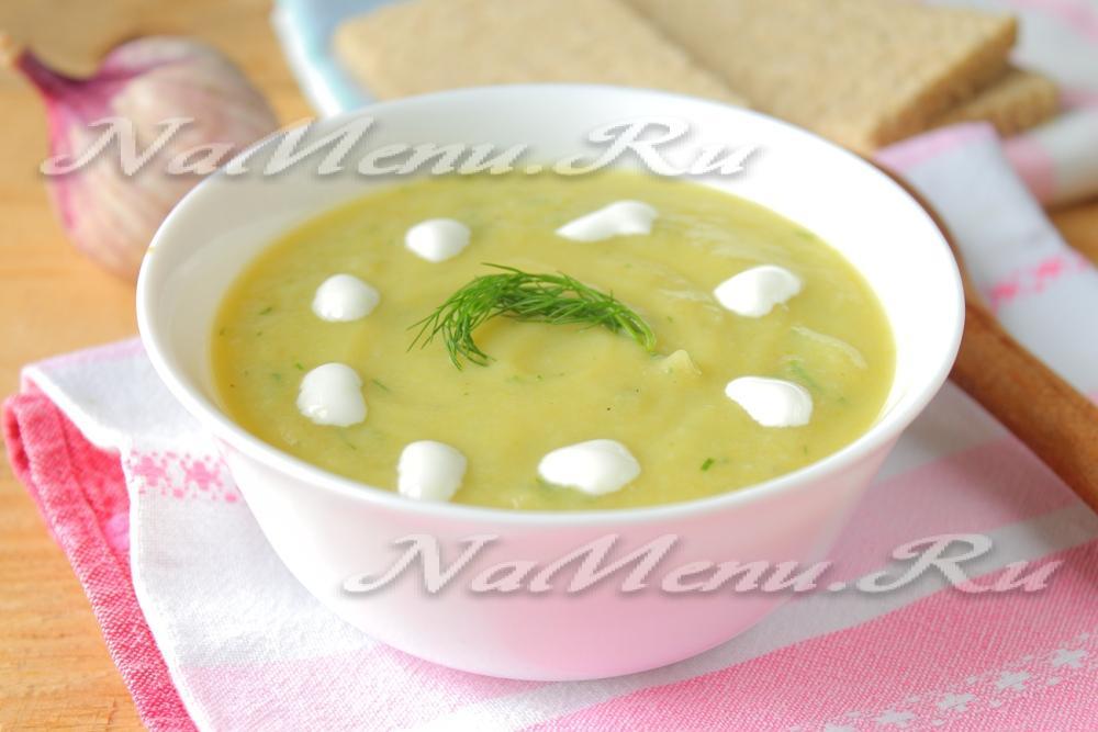 Рецепт супа пюре из цветной капусты и курицы