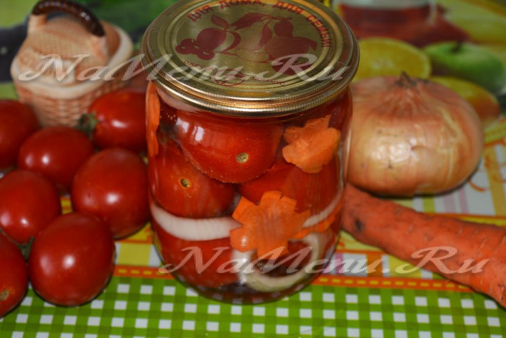 Консервация салат помидор с морковью