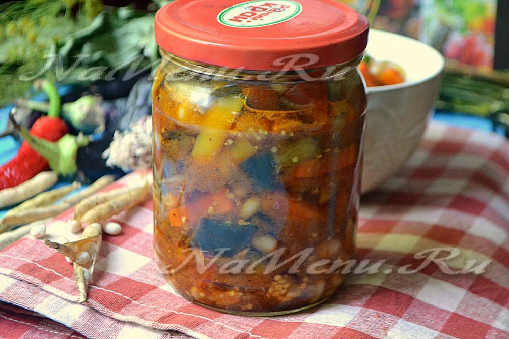 Салат на зиму с фасолью красной пошаговый рецепт с фото