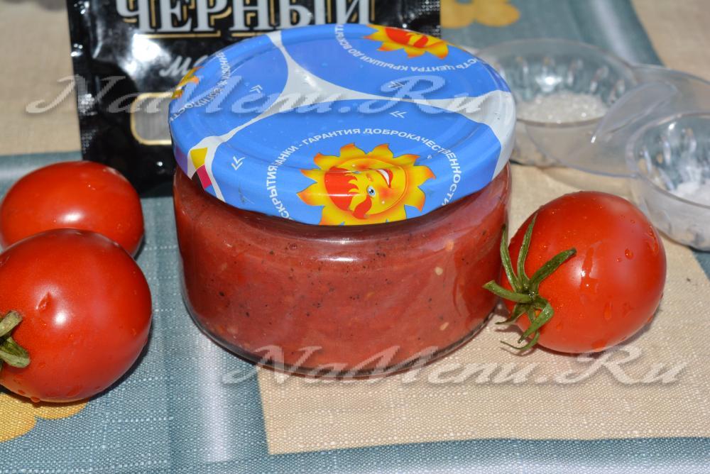 Рецепт кетчупа с луком и помидоров
